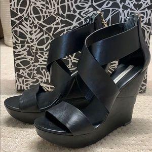 Diane von Furstenberg opal wedge sandal heels